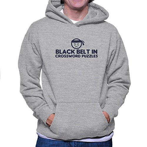 Teeburon BLACK BELT IN Crossword Puzzles Sudadera con capucha