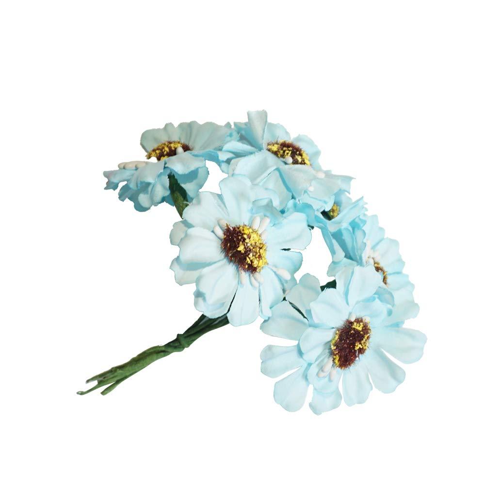 Weehey 6 Unids/Bunch 3.5 cm Mini Cherry Cereza Amapola Artificial Bouquet DIY Hecho A Mano Scrapbook Decoración de La…