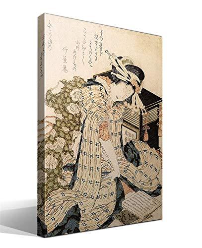 Cuadro Canvas Cortesana dormida de Katsushika Hokusai