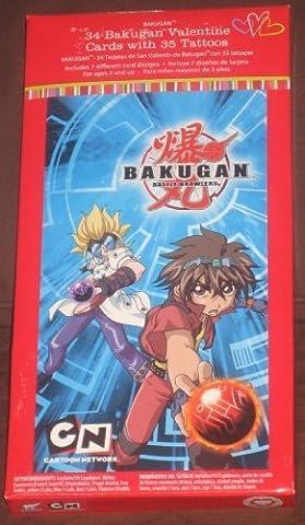 Bakugan Battle Brawlers 34 Valentine Cards with 35 Tattoos by Cartoon Network