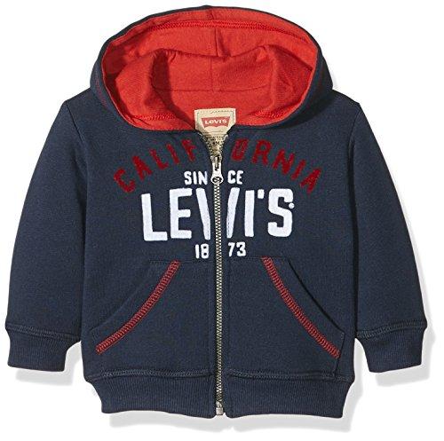 Levi's Kids Baby-Jungen Kapuzenpullover NI17004, Blau (Dress Blue 49), 86 (Herstellergröße: 24M)