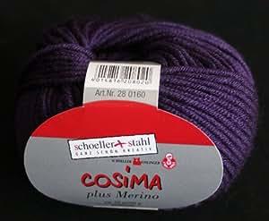 Cosima plus mérinos schoeller en laine mérinos vierge 50 g 09–couleur violet