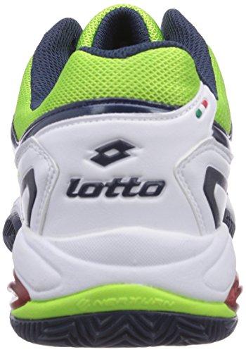Lotto Sport  VECTOR VI, Baskets de tennis homme Multicolore - Mehrfarbig (WHITE/FL CLOV)