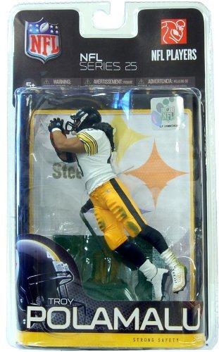 Mcfarlane NFL Series 25 Figure Troy Polamalu 2 Pittsburgh Steelers by Mcfarlane Toys (Steelers Mcfarlane)