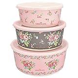 GreenGate- Bamboo Round Box - Marley Pale pink -Set of 3