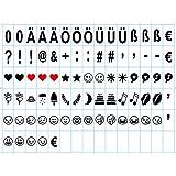 Mbuynow DE Lightbox Emoji leuchtbox Buchstaben Buchstabe-Karte, Schwarze Emojis und Zeichen für Lichtbox,6,6 x 3,6 cm (