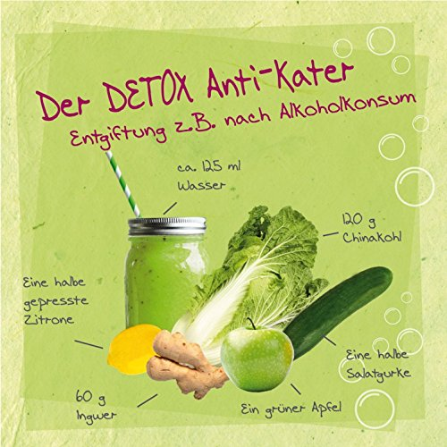 1art1® Smoothies Sticker Adhésif Mural Autocollant - Detox Anti-Kater (30 x 30 cm)