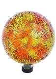 russco III gd137166Glas Gazing Ball, 25,4cm orange Mosaik Crackle