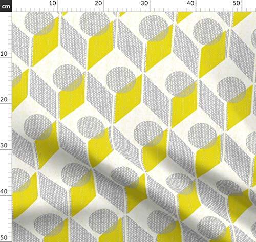Geometrisch, Tabelle, Stuhl, Möbel, Chevron, Möbel, Begrenzte Palette Stoffe - Individuell Bedruckt von Spoonflower - Design von Ottomanbrim Gedruckt auf Baumwollstoff Klassik