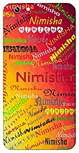 Nimisha (Momentary) Name & Sign Printed All over customize & Personalized!! Protective back cover for your Smart Phone : Micromax Canvas Canvas Hue-2