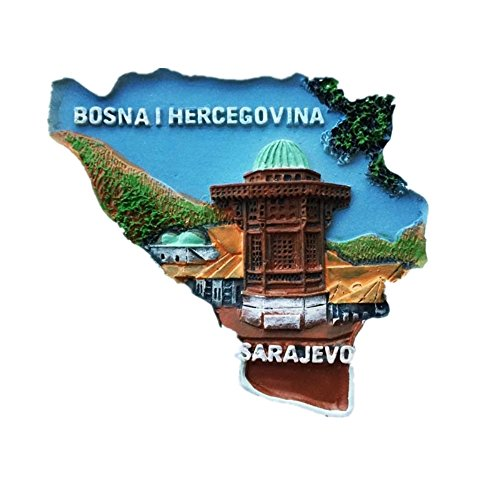 SARAJEVO Bosnien und Herzegowina Kunstharz 3D starker Kühlschrank Magnet Souvenir Tourist Geschenk Chinesische Magnet Hand Made Craft Creative Home und Küche Dekoration Magnet Sticker