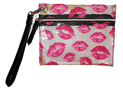 Neceser pequeño Transparente Red Lips Kisses