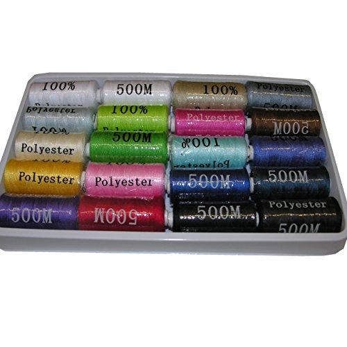 20 x 500 m Nähgarn Syngarn für die Nähmaschine Garn mehrere Farben gemischt