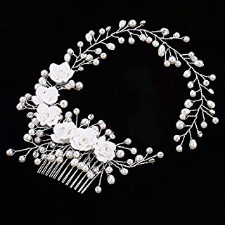 Awhao Hair Accessories Diamond Bridal Wedding for Women and Girls