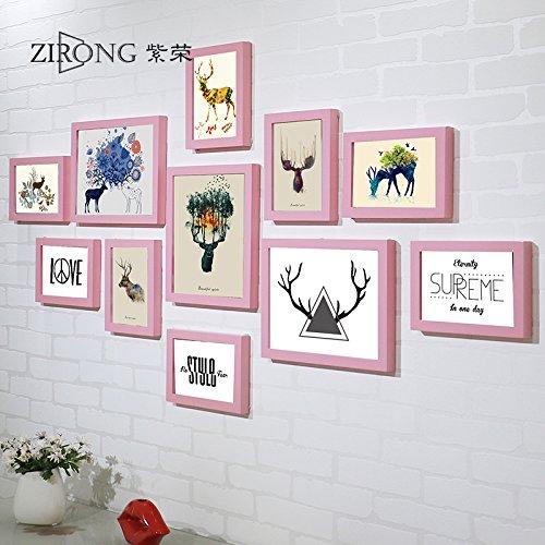 Holz Bilderrahmen foto Wand dekor bild Rahmen elk Schlafzimmer Wohnzimmer Wand Bilderrahmen Bilderrahmen an der WandDassRosa hinaus Elk pen Core