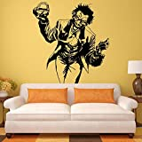 Njuxcnhg Wall Stickers Heath Ledger Joker Autocollant Comics DC Marvel Decal De Vinyle Home Interior Room Decor Art E691