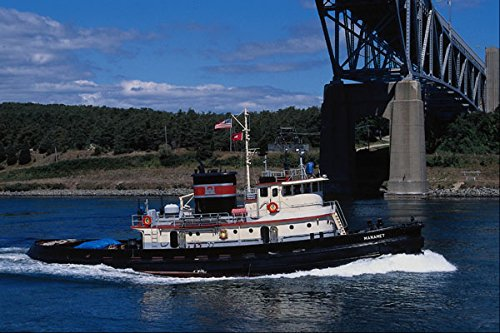 669098 Patrolling Inland Waters Seafaring State Rhode Island A4 Photo Poster Print 10x8