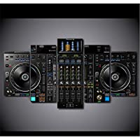 sxkdyax (No frame) Canvas Pictures Home Decor 5 Pieces DJ Music Player Paintings HD Prints Music Console Poster Modular Living Room Wall Art