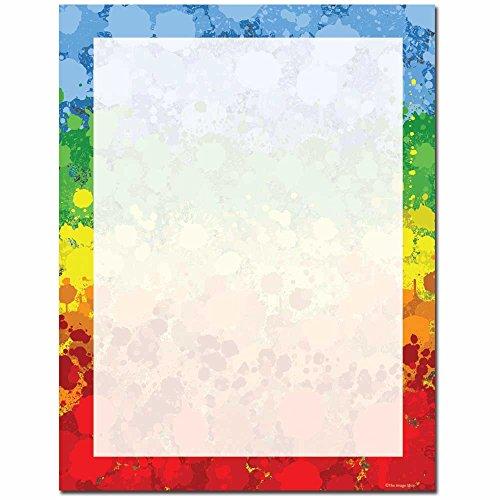 Paint Drops Briefkopf Laser & Inkjet Drucker 25 Sheets Red, Blue, Green, Yellow