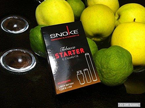 Preisvergleich Produktbild Snoke E-Zigar. Tabacco ohne Nikotin STARTER Set mit Akku + 1x CAP, Cigarette NEU