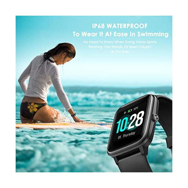 CHEREEKI Smartwatch Reloj Inteligente, Impermeable IP68 Pulsera Actividad con Ritmo Cardíaco, Reloj de Fitness con… 4
