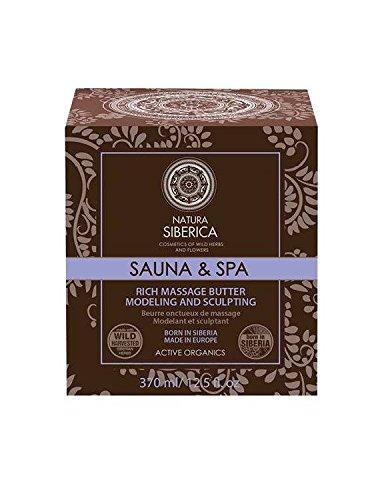 NATURA SIBERICA - Reiche Umformungs - und Toning Massagebutter - Organische Sheabutter, Siberian Purple,Schafgarbe und Bienenwachs - 370 ml -