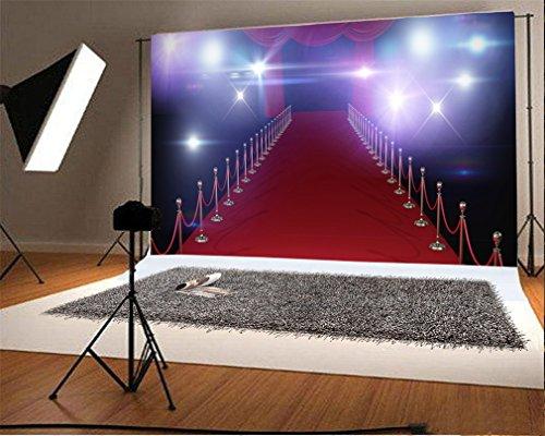 YongFoto 3x2m Vinyl Hintergrund Licht der Bühne Teppich Rot Vorhang Theater von Hollywood Innen Boden Dekors Studio Foto Portrait Kinder Video Fete Hochzeit photobooth Fotografie Accesorios