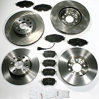 Autoparts-Online Set 60012655 Bremsscheiben PR-Nr. 1ZA,1KS/Bremsen + Bremsbeläge für Vorne + Hinten