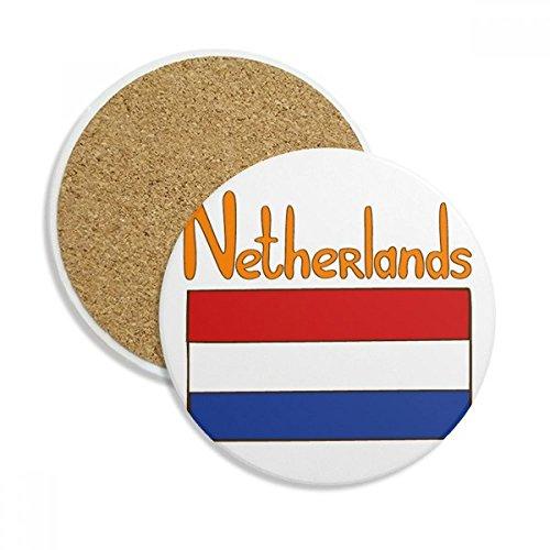 DIYthinker Motif National des Pays-Bas Drapeau Coaster en céramique Tasse Porte-Absorbant Pierre pour Le Cadeau de Boissons Multicolor