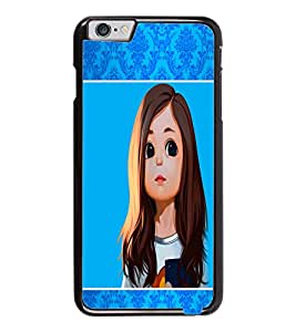 PrintDhaba Cute Girl D-1358 Back Case Cover for APPLE IPHONE 6 (Multi-Coloured)