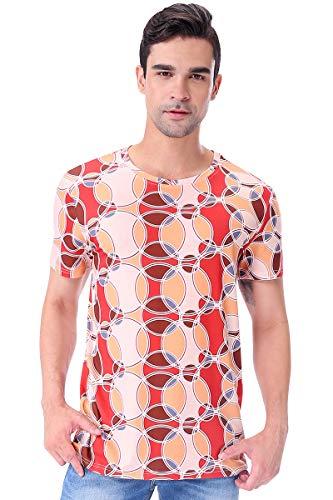 Disco Dude Für Erwachsene Kostüm Shirt - Cosavorock 70er Platte Retro Herren Retro-T-Shirt