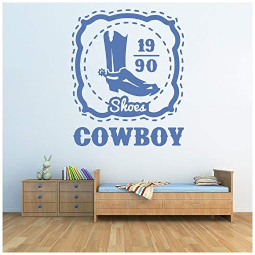 Elfenbein Weste (azutura Cowboystiefel Wilder Westen Wandtattoo verfügbar in 5 Größen und 25 Farben Elfenbein Beige)
