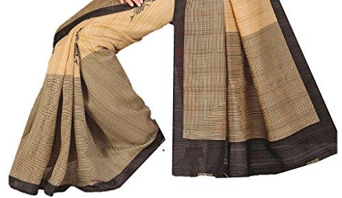 Design Willa Women's Cotton Saree With Blouse Piece (Dwshr033_Multicolor)