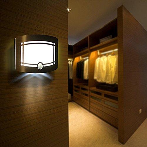 GBYZHMH Wandleuchten LED Wandleuchte, Bewegungsmelder, Wireless, Nachttischlampe, Pille, Treppe, Schrank und Halle [Energie Klasse A+]