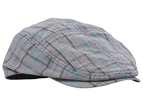 MG Fashion Plaid Ivy Cap - Bleu - M