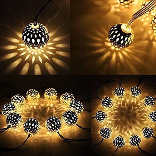 Marokkanische Schlafzimmer Dekor (Kreative 40 Led Globe Lichterketten, Splitter Marokkanische Party Hängelampen Batteriebetriebenes Dekor Für Innen, Haus, Schlafzimmer, Party, Hochzeit, Weihnachtsbaum (warmweiß))