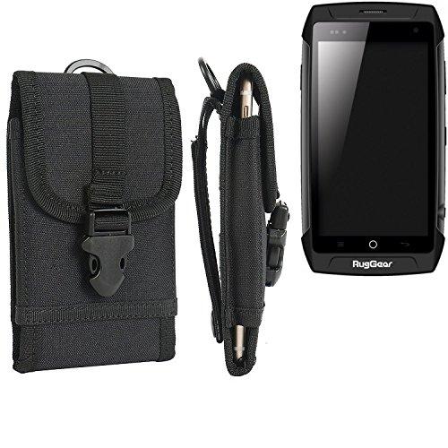K-S-Trade Schutzhülle Tasche für Ruggear RG730 Gürteltasche Gürtel Robuste Handy Hülle Smartphone CAse Outdoor schwarz