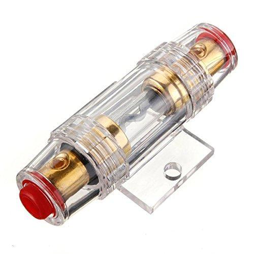 REFURBISHHOUSE Car Stereo 8 Gauge AGU Support Sicherungshalter Und Sicherung 60 Amp Audio-Kabel 8 Gauge Car Audio