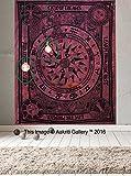 Arazzo singolo in stile celtico, motivo: Cycle of the Ages, decorazione artistica da appendere, in stile hippy, dimensioni: 210 x 140cm, marchio: Aakriti Gallery