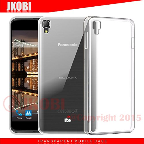 Jkobi(TM) Exclusive Soft Silicone TPU Jelly Crystal Clear Case Soft Back Case Cover For Panasonic Eluga Switch-TRANSPARENT
