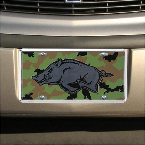 (6x12) Arkansas Razorbacks Camo Chrome NCAA Tin License Plate by Poster Revolution