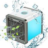 COMLIFE Condizionatore Portatile Raffreddatore D'aria Evaporativo Mini 3 in 1 Dispositivo di Raffreddamento 7 Colori LED Dell'aria Umidificatore Purificatore Ventilatore ad Aria Condizionata