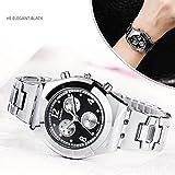 etbotu Frauen Fashion Einfache Quarzuhr mit Legierung Armband Strass Dekoration Armbanduhr Geschenk 8399B003 black
