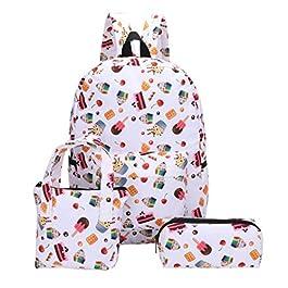 00cd444430 3Pcs zaini scuola di tela modello studente ragazza moda + borsa a mano +  sacchetto della ...