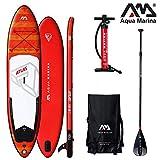 AQUA-MARINA BT-19ATP Atlas-Advanced All-Around iSUP Adult Mixte Adult avec Paddle et Safety Leash Rouge/Blanc 366 x 84 x 15 cm