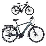 FISCHER Herren - E-Bike Trekking VIATOR 4.0i (2020), grün matt, 28 Zoll, RH 50 cm, Mittelmotor 50 Nm, 48 Volt Akku im Rahmen