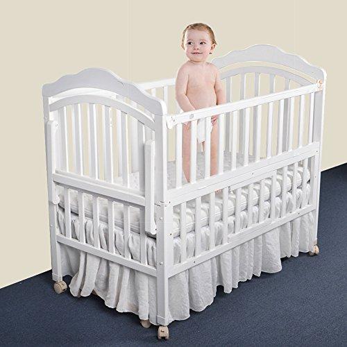 Comaie® Kinderbett Rock Rüschen Aqua Rüschen Design Spannbettlaken Baby Bett 100% Baumwolle Natur Kindergarten Bettwäsche für Mädchen oder Jungen