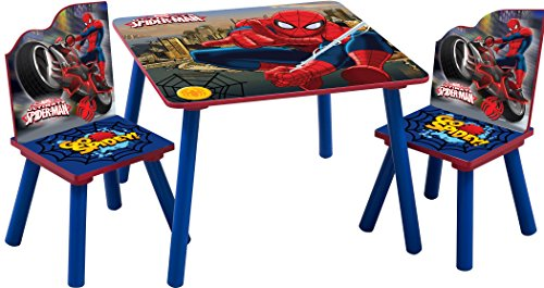 marvels-spiderman-childrens-wooden-table-and-two-chairs-set-kids-bedroom-playroom