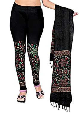 sangani fashion womens printed leggins with dupatta (cotton, XX-Large)