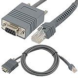 Grau 2M 7ft Symbol LS2208–RS232RJ45auf DB9-Buchse Bar Code Scanner Serielles Kabel